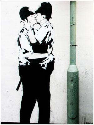 Роберт Бэнкс (Banksy) - художник и арт-террорист из Великобритании