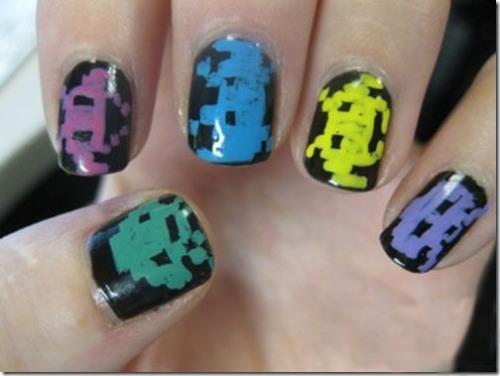 ... на ногтях, дизайн ногтей. рисунки на: mung.pp.ua/kak-narisovat-smayliki-na-nogtyah