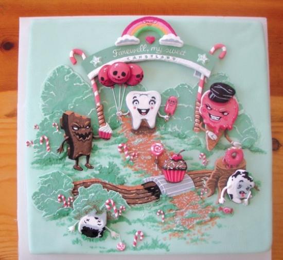 Threadcakes - ваяние скульптур и живопись из тортов и глазури