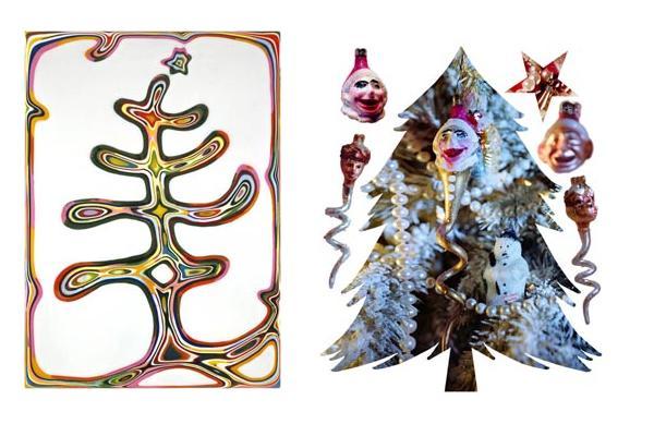 Двухмерные ёлки от американских дизайнеров