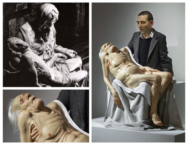 Микеланджело, 'Пьета', 1499 г. Современный взгляд: Сэм Джинкс, 2007 г.