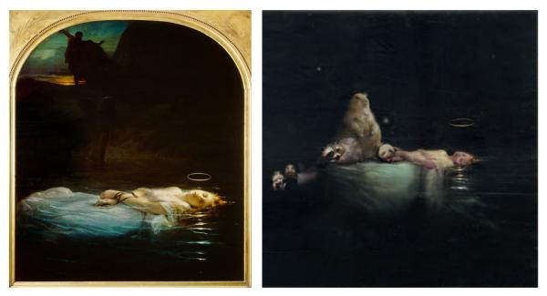 Поля Делароша, 'Молодые мученики', 1855u. Современный взгляд: Крис Беренс, 2008 г.