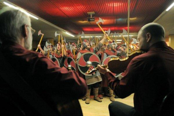 Вечеринка на фестивале викингов