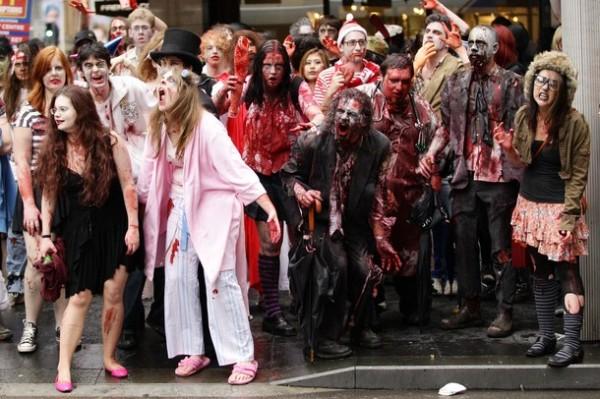 Марши зомби проходят по всему миру