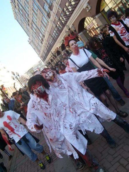 Марш зомби в Москве