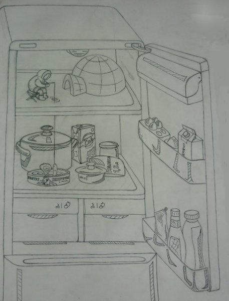Холодильник (из серии 'Мир Большой – Я Маленький')