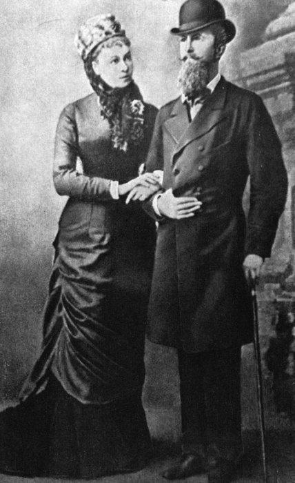 Наталья Александровна Меренберг с мужем принцем Николаем Вильгельмом Нассауским. Фотография 1880-х гг.