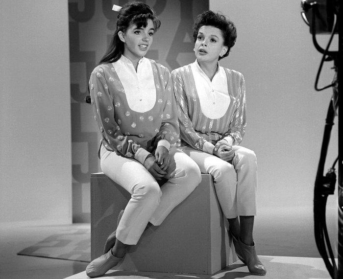 Джуди Гарленд с дочерью.