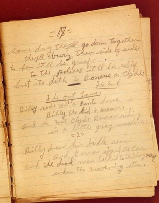Один из дневников Бонни со стихами.