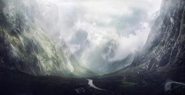 Падь. Национальный парк Фьордленд, Новая Зеландия.