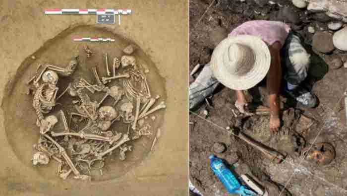 Раскопки времён неолита неподалёку от Страсбурга.