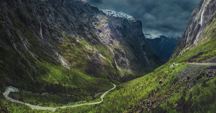 Груз. Национальный парк Фьордленд, Новая Зеландия