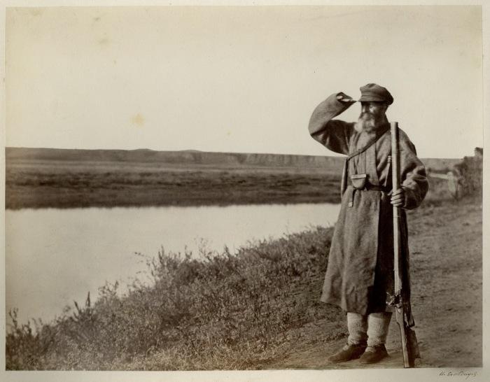 Донской казак-стрелок, семидесяти пяти лет. 1875-1876 год.