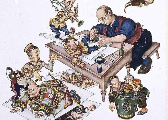 Художник и его персонажи. 1946 год
