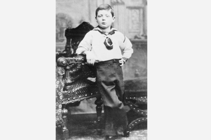 Уинстон Черчиль в возрасте 7 лет.