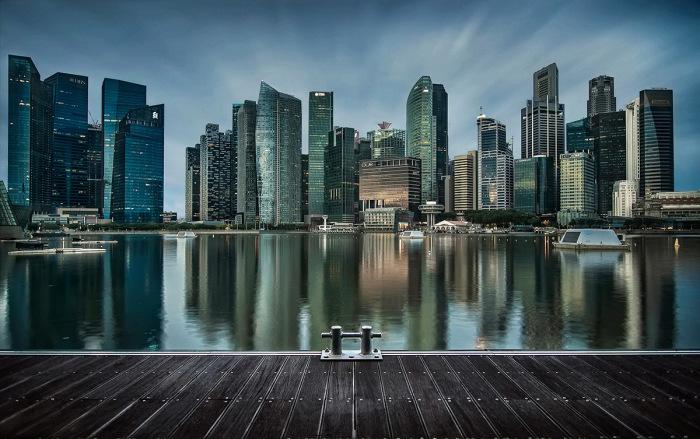 Прощание» - вид на центр Сингапура на рассвете. / Фото: Алексей Ермаков.