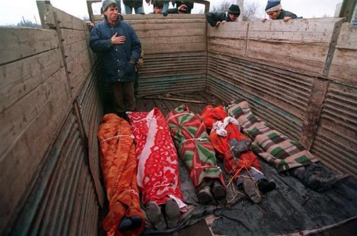 Русские жертвы в Чечне.
