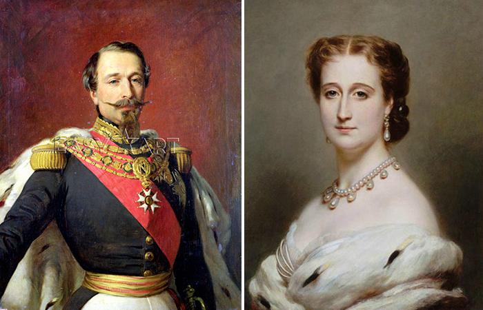 Последняя императорская чета Франции: Наполеон III и графиня Теба.