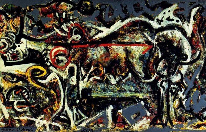 Волчица. Картина Джексона Поллока.