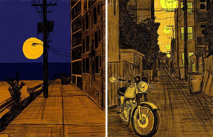 Переулки и подворотни от иллюстратора Уильяма Долана.