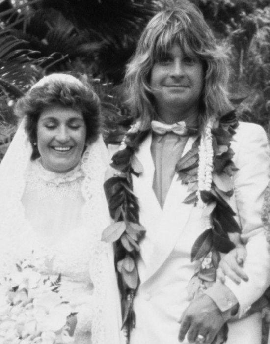Свадебное фото Оззи и Шерон Осборн. / Фото: topnews.ru