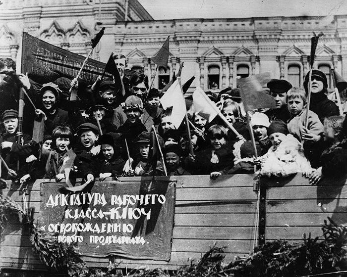 Майские праздники на Красной площади в Москве, 1 мая 1924