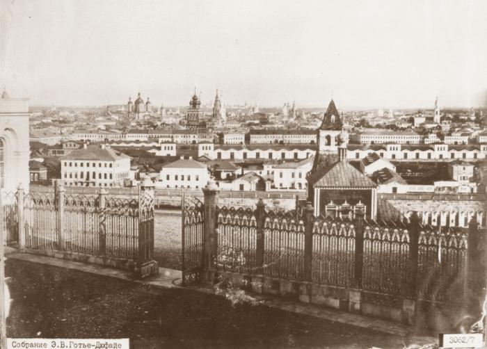 Вид на Замоскворечье из окон нового (тогда) здания Оружейной палаты.