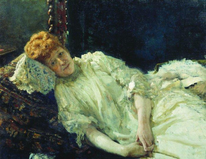 И.Е. Репин. «Портрет пианистки графини Луизы Мерси д*Аржанто» (1890)