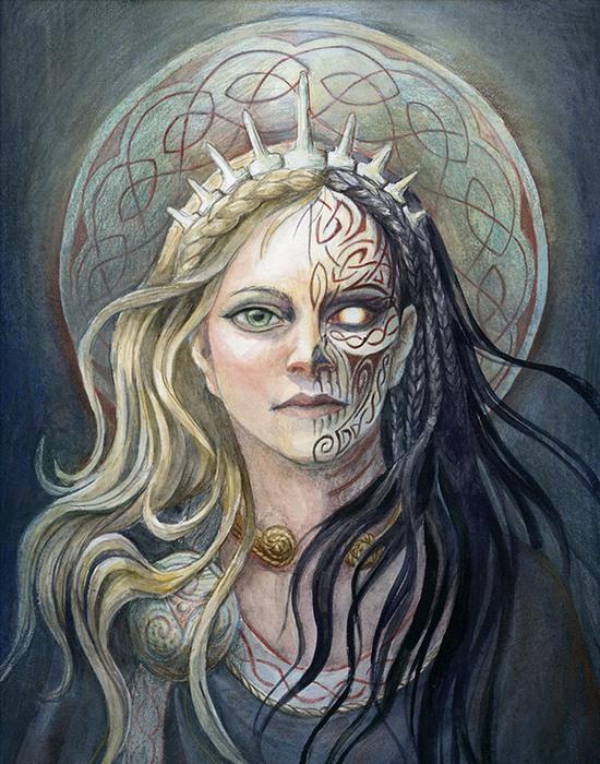 Богиня Хель./фото: benu-h.deviantart.com