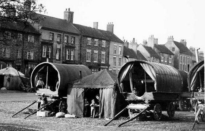 Цыганские караваны в английском Стоктон-он-Тисе.