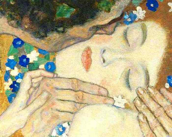 Картина Густава Климта «Поцелуй».