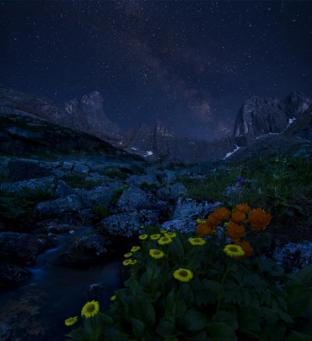 Звезды над Звездным. / Фото: Александр Юсупов.