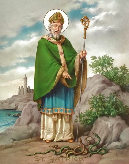 17 марта — день вознесения на небо Святого Патрика.