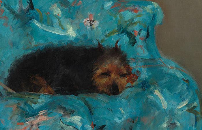 Собака Батиста была постоянным спутником Кассат.