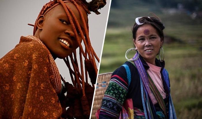 Cамые экстравагантные женские наряды у разных народов мира.