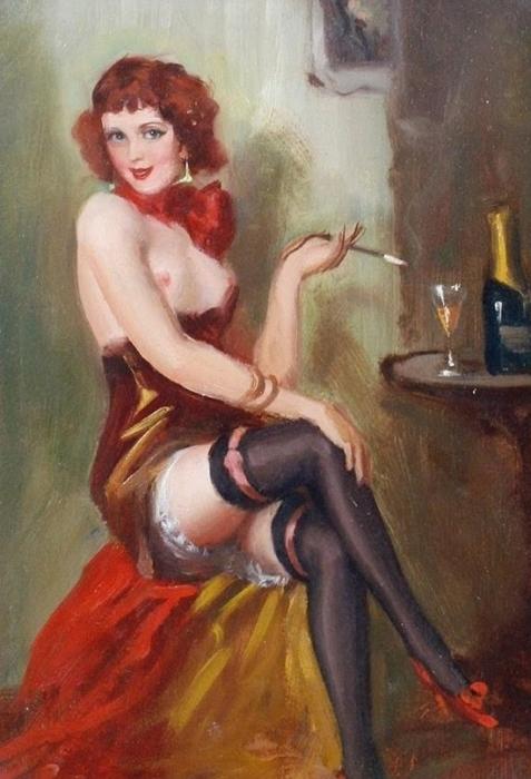 Дьюла Азталос (1900 - 1972) «Кокетливая барышня»