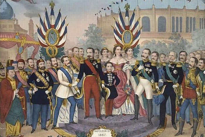 Наполеон III принимает правителей и выдающихся людей на всемирной выставке 1867 года./фото: storytellergarden.co.uk