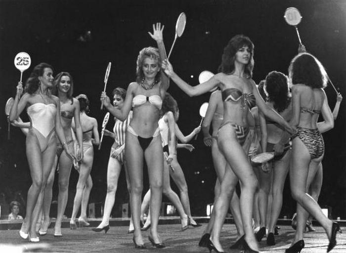 Участницы первого в СССР конкурса красоты.