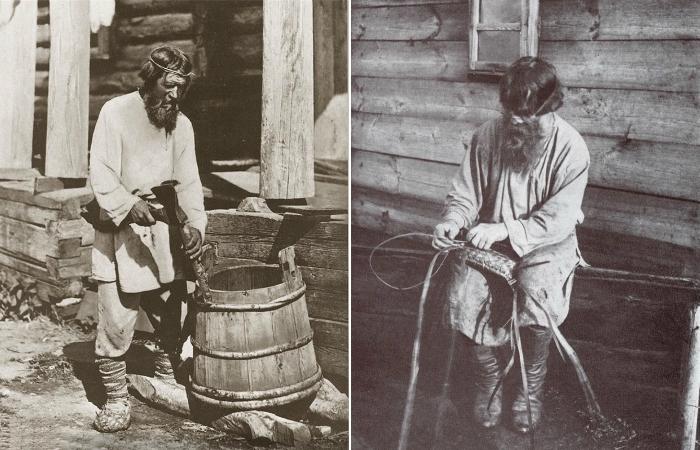Русские крестьяне за работой.