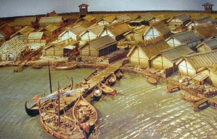 Макет поселения викингов Бирка.