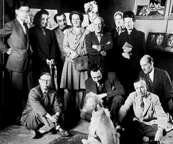 Пабло Пикассо, Симона де Бовуар, Жан-Поль Сартр, Альбер Камю... / Фото: digsup.ru