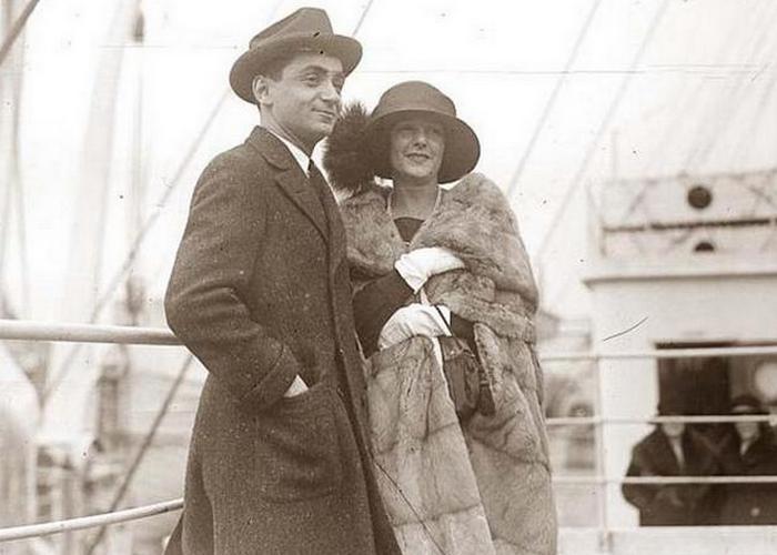 Ирвинг Берлин с женой./ Фото: old-picture.com