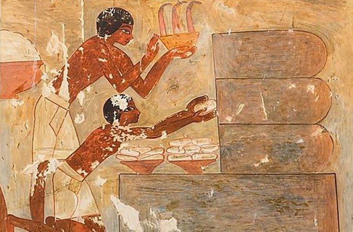 Сбор мёда в Древнем Египте.