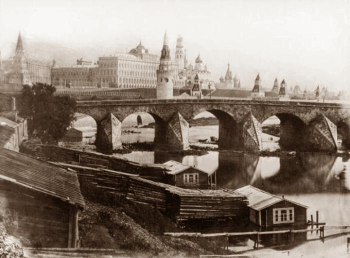Большой Каменный мост. Фото 1857 года.