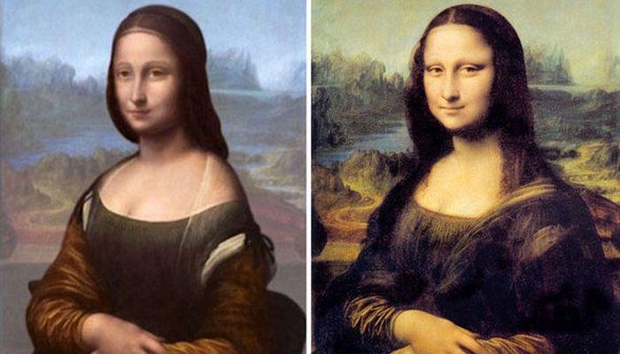 На холсте Мона Лиза  не одинока.