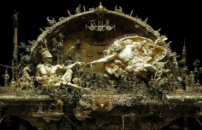 Фрагмент скульптуры «С благоговением».