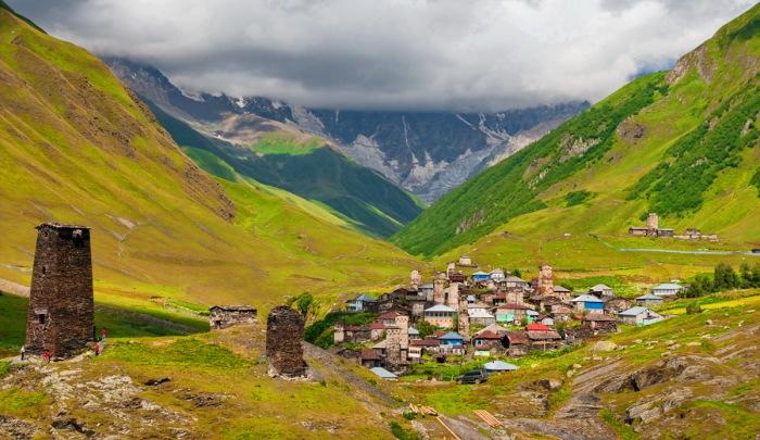Сванетия - одно из мест на Кавказе, где рождаются блондины.