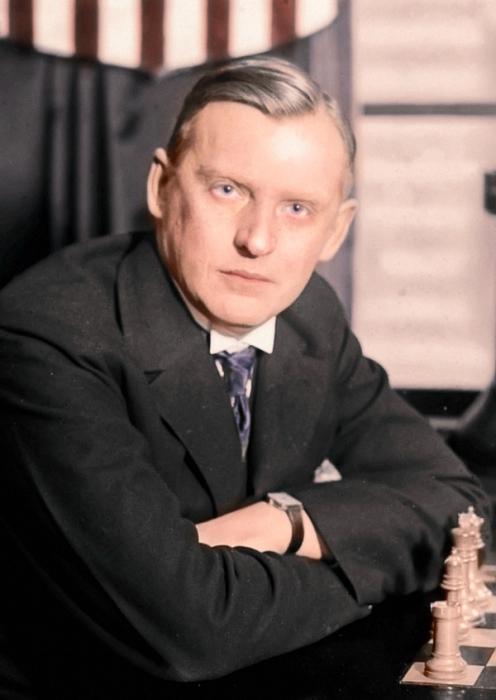 Шахматист Алёхин.
