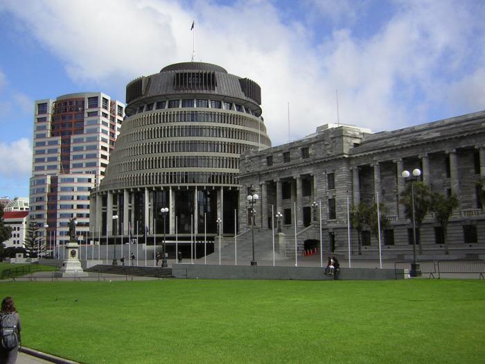 Здание парламента Новой Зеландии.