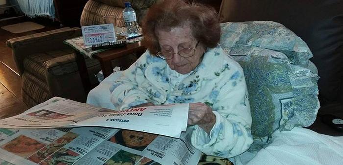 112-летняя Алисия Виктория Грабба Радж.